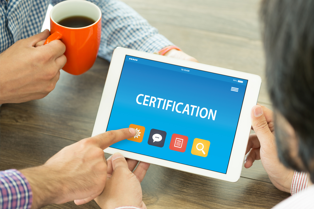 CERTIFICATION CONCEPT ON TABLET PC SCREEN